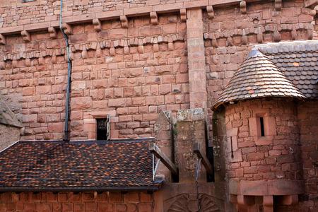 Chateau du Haut-Koenigsbourg, medieval castle at Orschwiller, Alsace, France