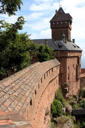 haut: Chateau du Haut-Koenigsbourg, medieval castle at Orschwiller, Alsace, France
