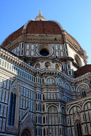 fiore: Cathedral of Santa Maria del Fiore, the main church in Florence, Italy Stock Photo
