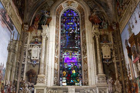 Interior of Santa Maria Novella, church in Florence, Italy