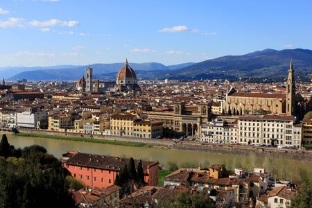 michelangelo: View of Florence from Michelangelo Square Piazzale Michelangelo Italy
