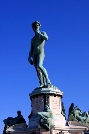 michelangelo: Bronze statue of David at Piazzale Michelangelo Michelangelo Square, Florence