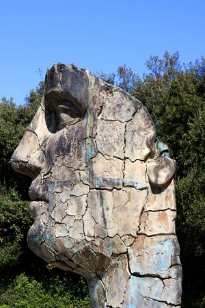 igor: The Tindaro screpolato by Igor Mitoraj in Boboli gardens, Florence, Italy