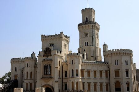 nad: The Hlubok Castle in Hlubok nad Vltavou,  Czech Republic Editorial