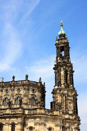 Dresden Cathedral, or the Cathedral of the Holy Trinity,  Catholic Church of the Royal Court of Saxony, Germany Editorial