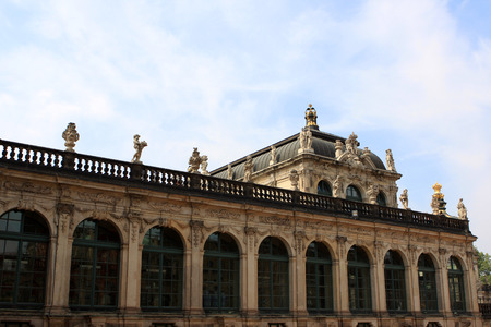 The Zwinger complex at the historical center of Dresden, Germany