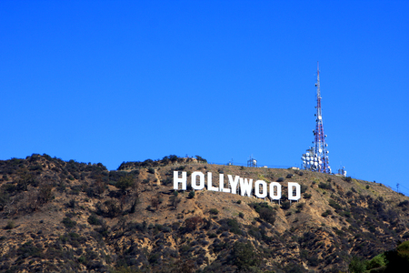 The Hollywood Sign on Mount Lee, los Angeles, USA Stok Fotoğraf