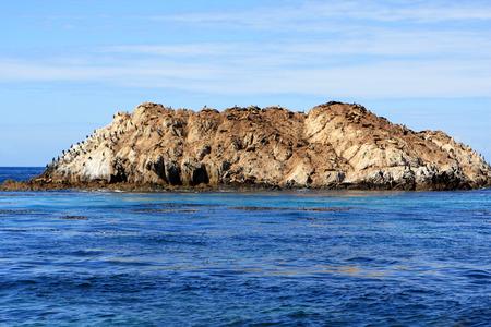mile: Ocean view at 17 Mile Drive, Pebble Beach California Stock Photo