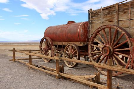 borax: Harmony Borax Works, Death Valley National Park, USA Editorial