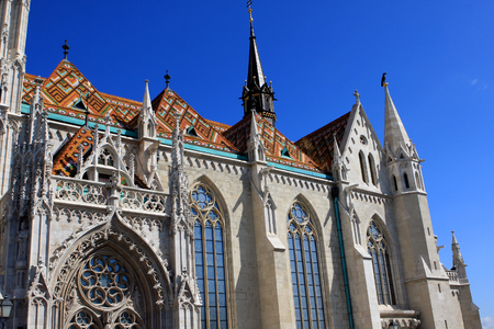 Matthias Church in Buda`s Castle District, Budapest, Hungary