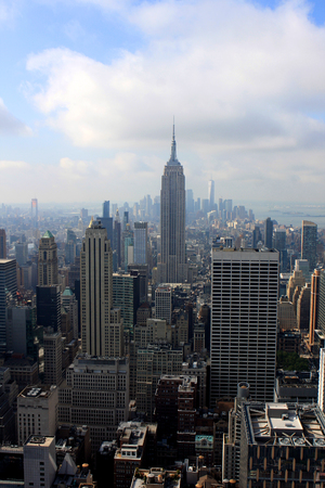 View of New York from the Top of the Rock building, USA