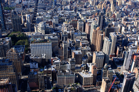 View of New York from Empire State building, USA