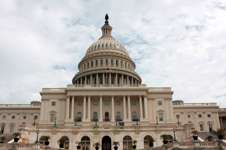 The United States Capitol, or Capitol Building,  located on Capitol Hill in Washington, D.C.