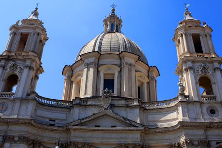 Sant`Agnese in Agone baroque church in Piazza Navona in Rome, Italy