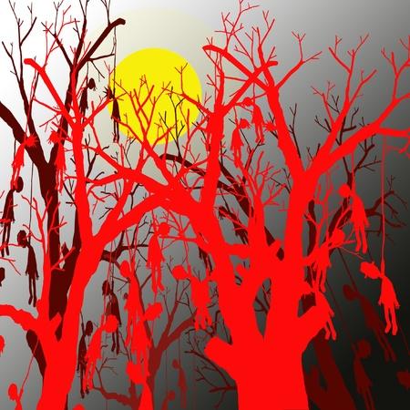 the noose: halloween scene