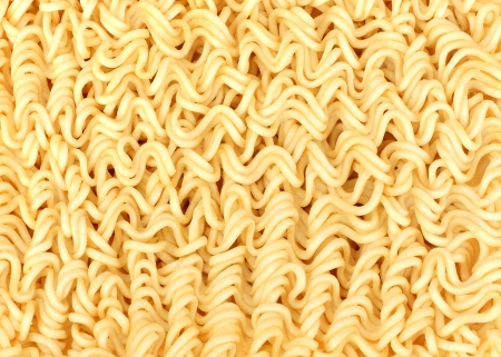 asian ramen instant noodles isolated on white background Stock Photo