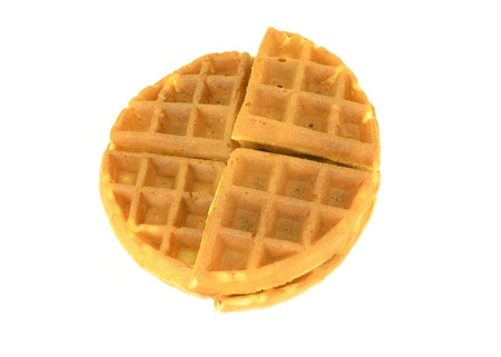 a round waffle on a white background