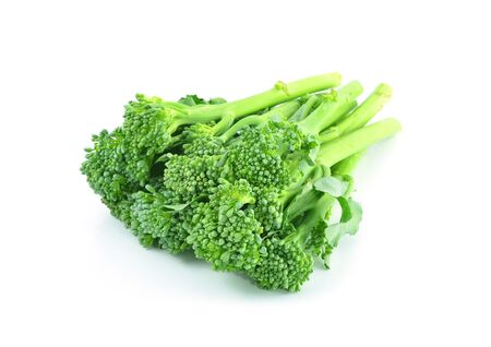 sprouts baby broccoli cabbage isolated on White Background Stock Photo