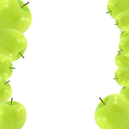 fresh green apple isolated on white photo