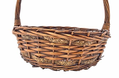 empty basket on white background photo