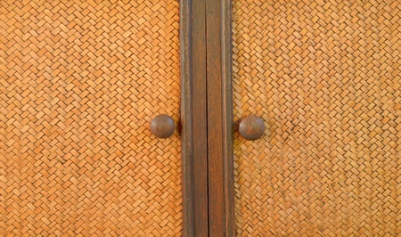 Vintage brown wooden door close-up Stock Photo - 18341842