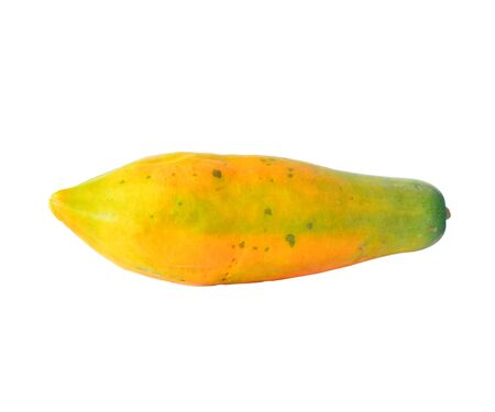 Papaya isolated on white background Stock Photo