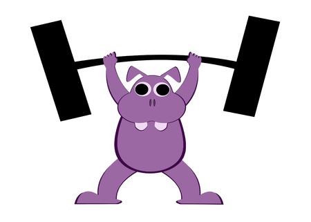 cartoon hippo: illustration of Cartoon Hippopotamus Stock Photo
