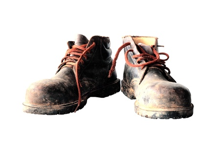 safety shoes: Safety Shoes Stock Photo