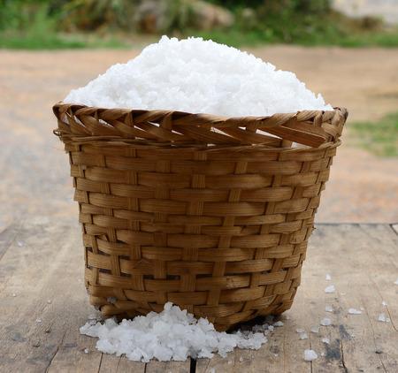 briny: Salt large crystals evenly