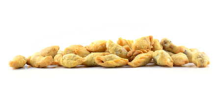 curry puff isolated on white  photo