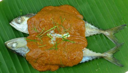 mackerel spicy sauce photo