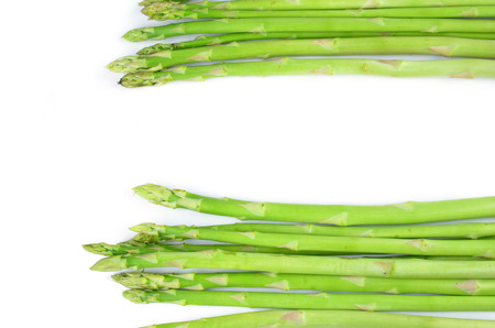 nutritiously: asparagus isolated on a white background Stock Photo