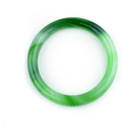 jade bracelet on white background