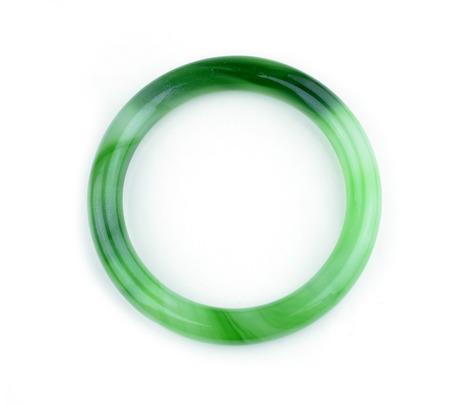asian wedding: jade bracelet on white background
