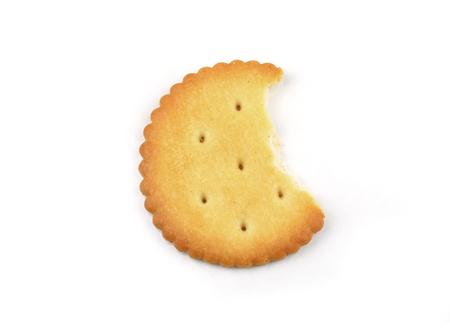 Big round delicious biscuits on a white background Stock Photo