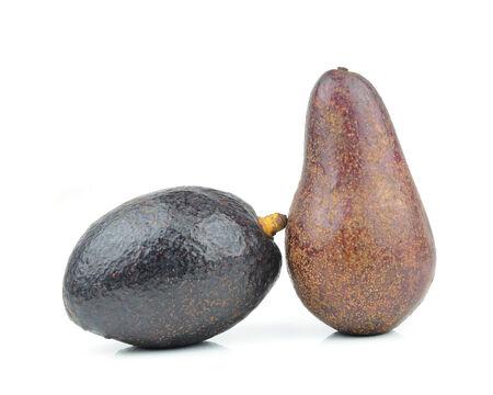 Fresh avocado isolated on white photo