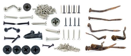 special steel: screw in white back