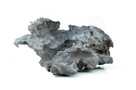 stone isolated on white background.
