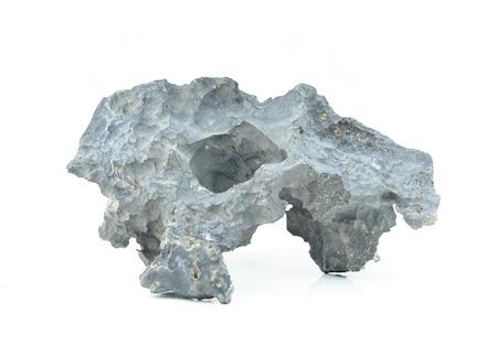 stone isolated on white background. photo