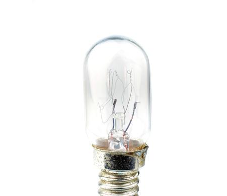Old bulb isolated on white background. photo