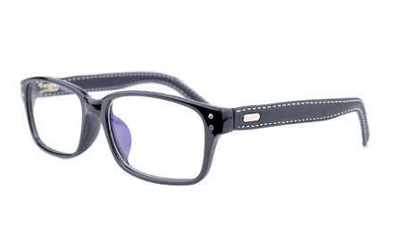 black rimmed: spectacles