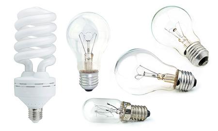 bulb isolated on white background. photo