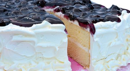 blue berry: Blue Berry Cake Stock Photo