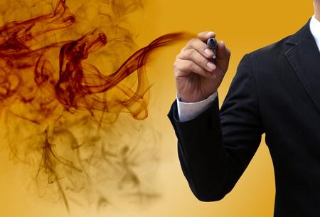 parapsychology: Visionary businessman Stock Photo