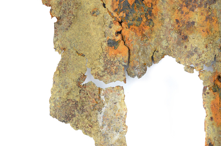 rusted: Rusted galvanized iron plate