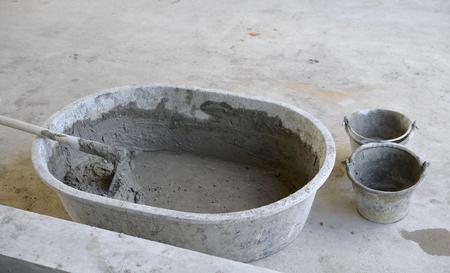 finishing: Cement. Stock Photo