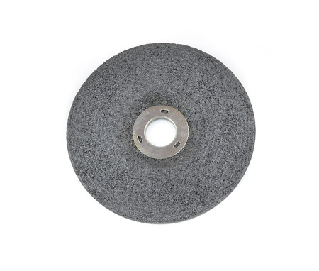 4 wheel: Close up 4 inch grinding wheel isolated on white