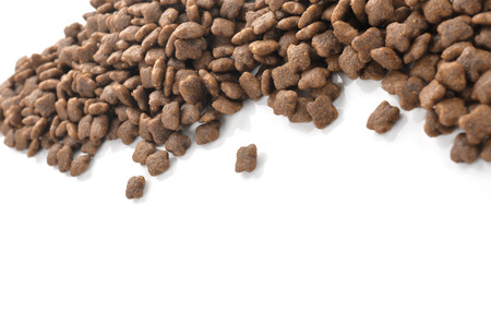 catfood: Cat food isolated on white Stock Photo
