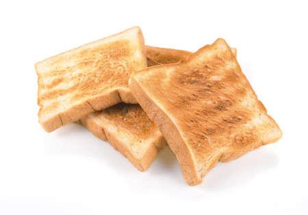 against white: toast against white background