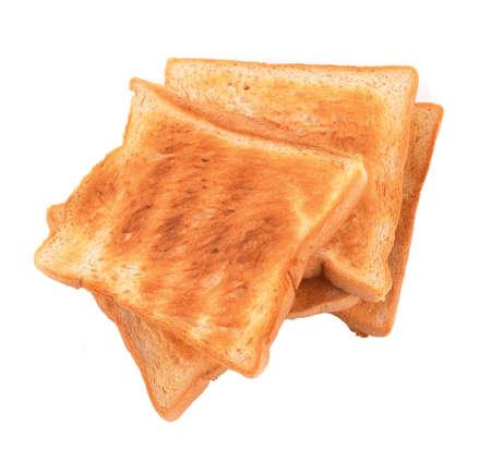 against white:  toast against white background Stock Photo